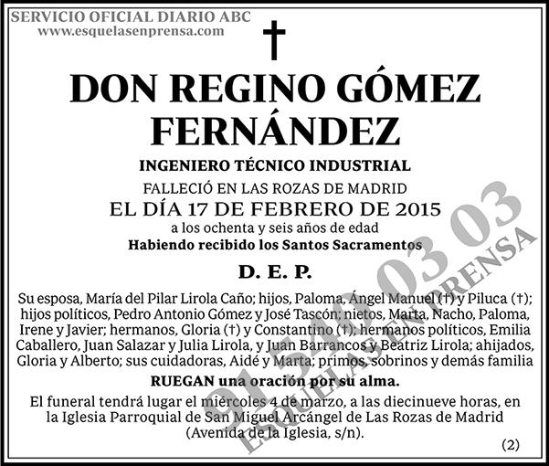 Regino Gómez Fernández